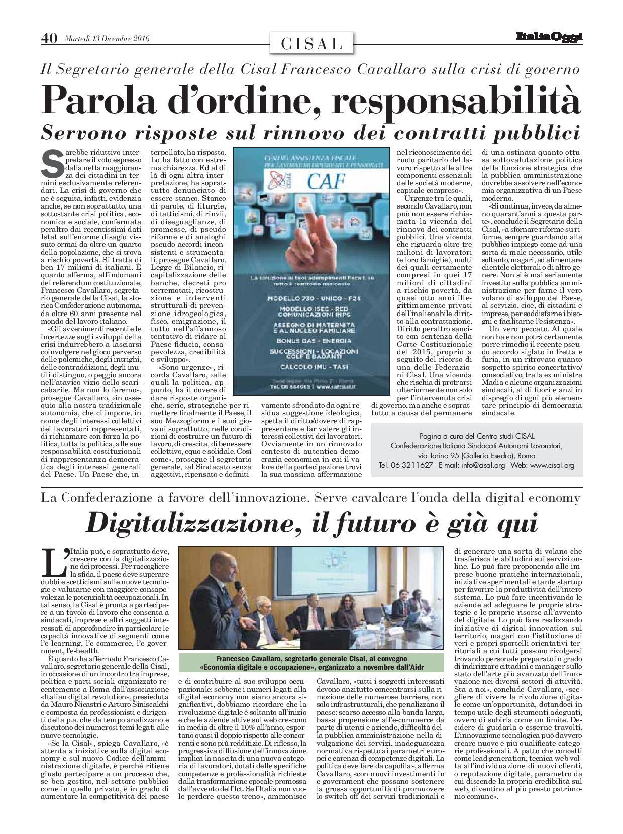 Editoriale in formato PDF:13/12/2016 Italia Oggi