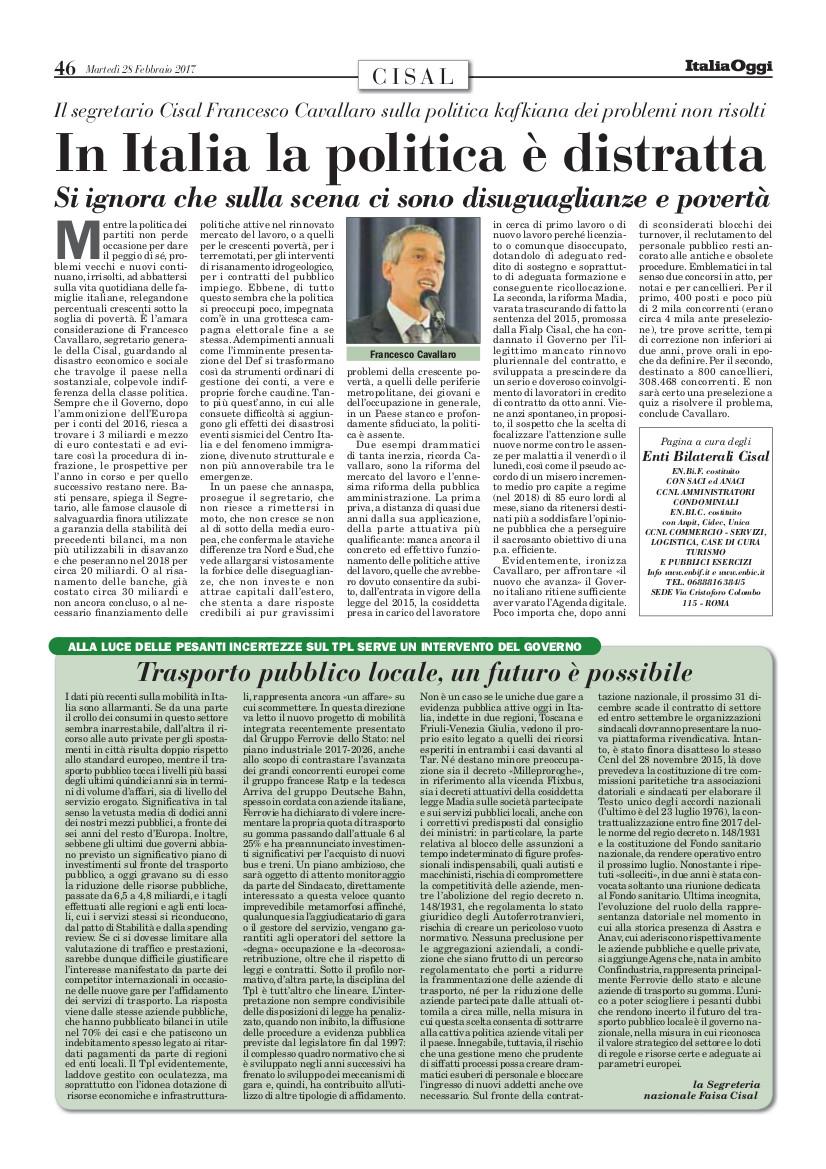 Editoriale in formato PDF:25/02/2017 Italia Oggi
