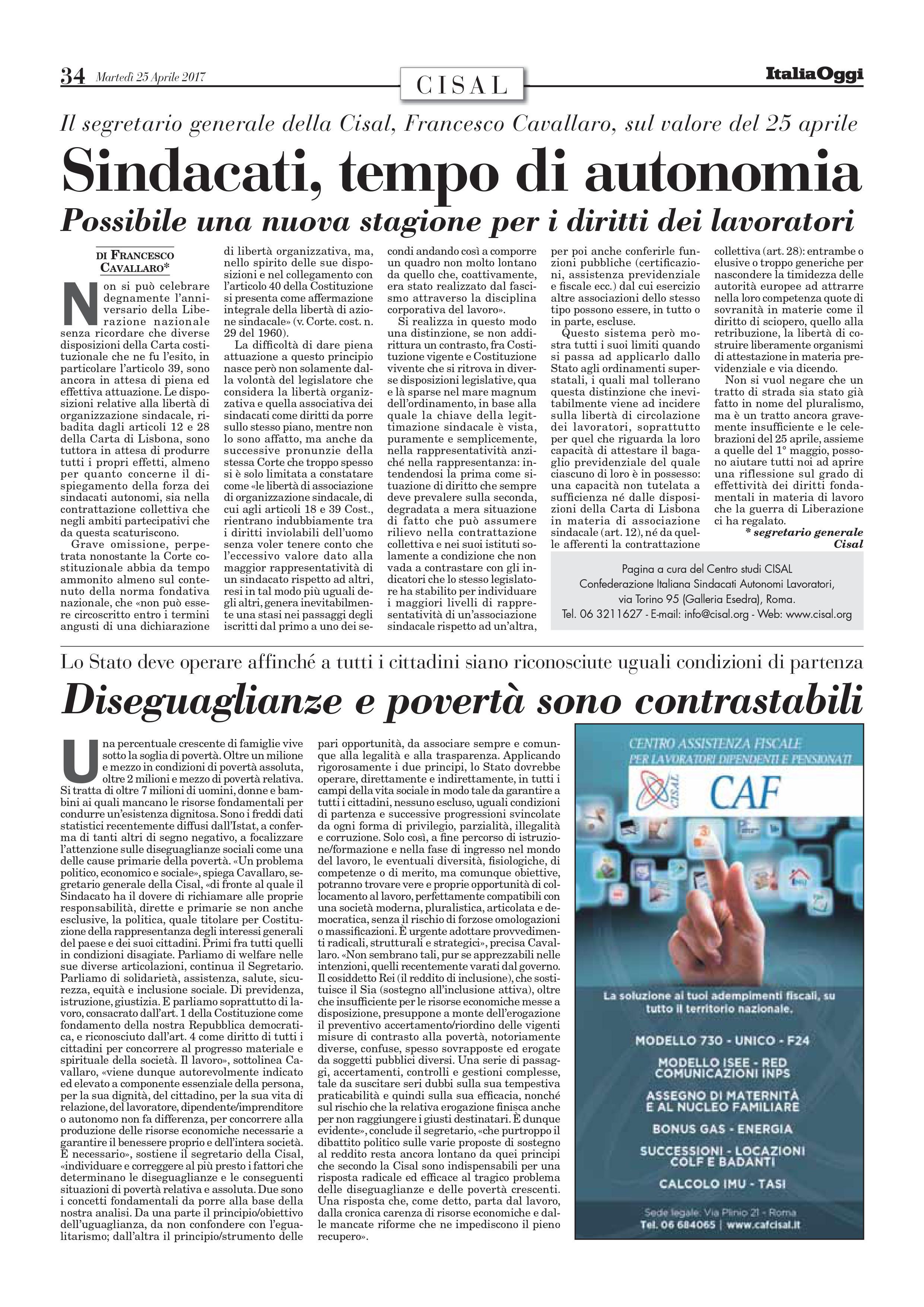 Editoriale in formato PDF:25/04/2017 Italia Oggi