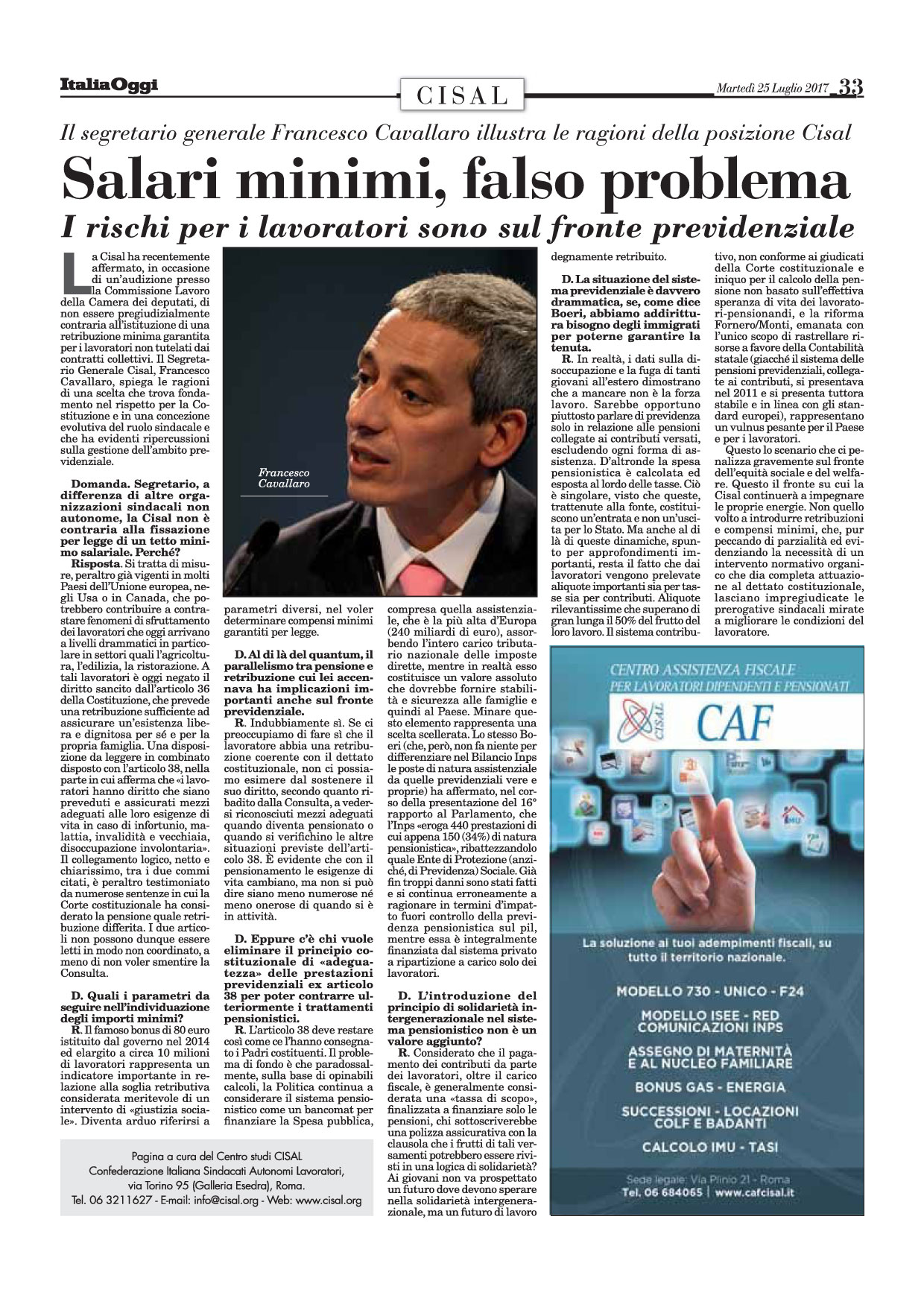Editoriale in formato PDF:25/07/2017 Italia Oggi