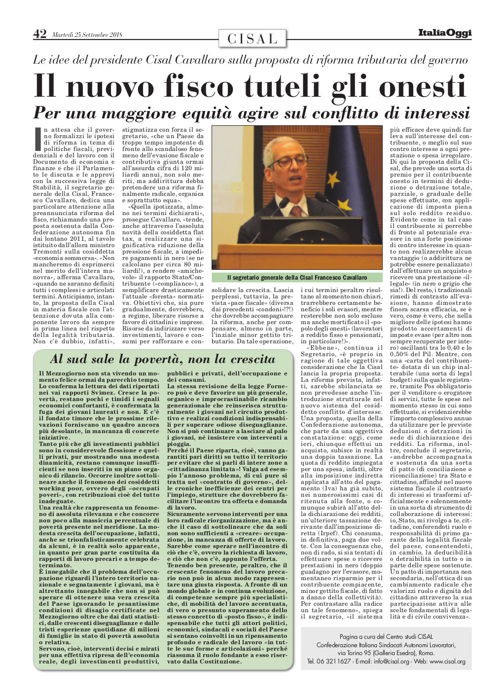 Editoriale in formato PDF:25/07/2018 Italia Oggi