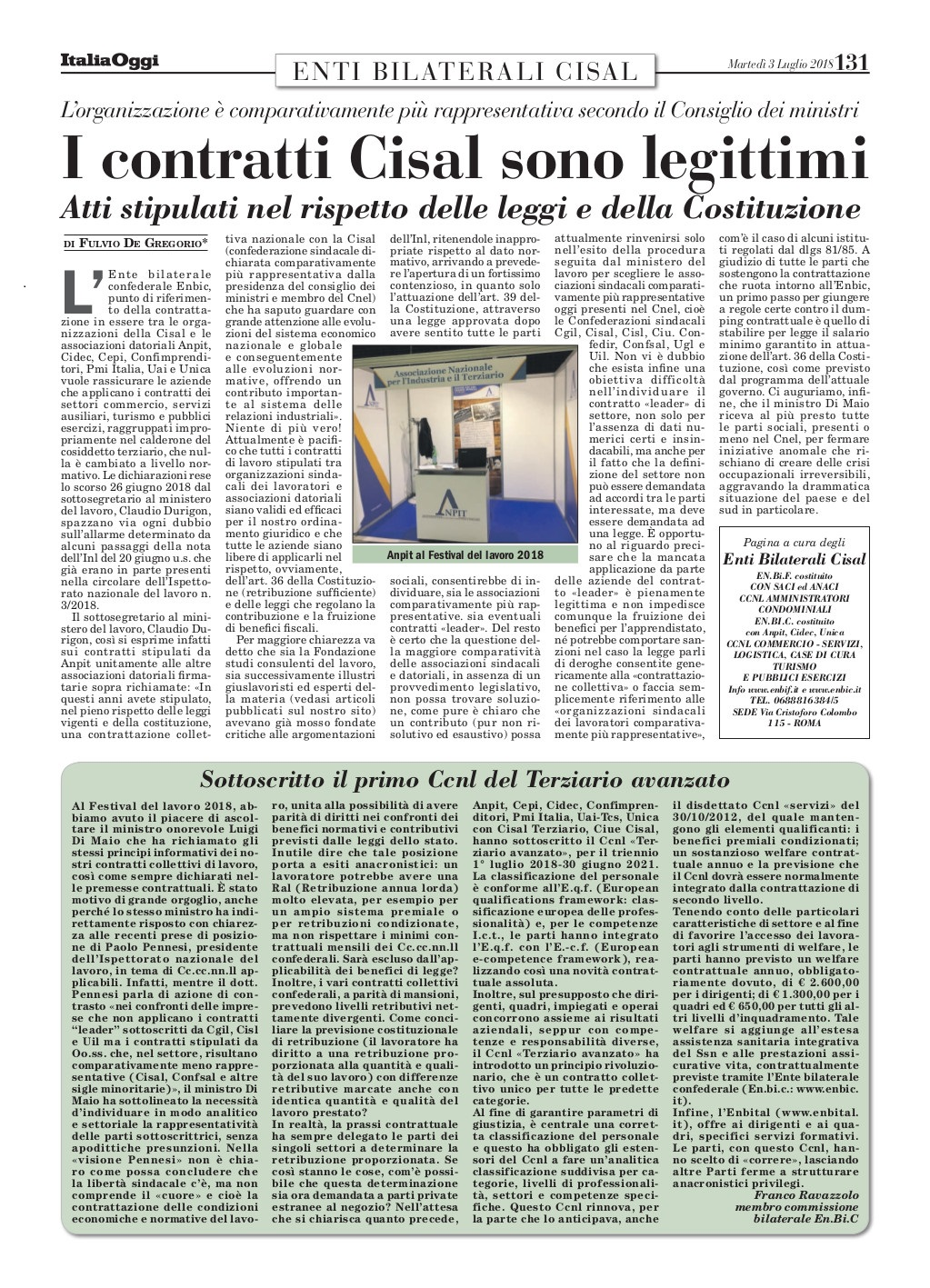 Editoriale in formato PDF:30/07/2018 Italia Oggi