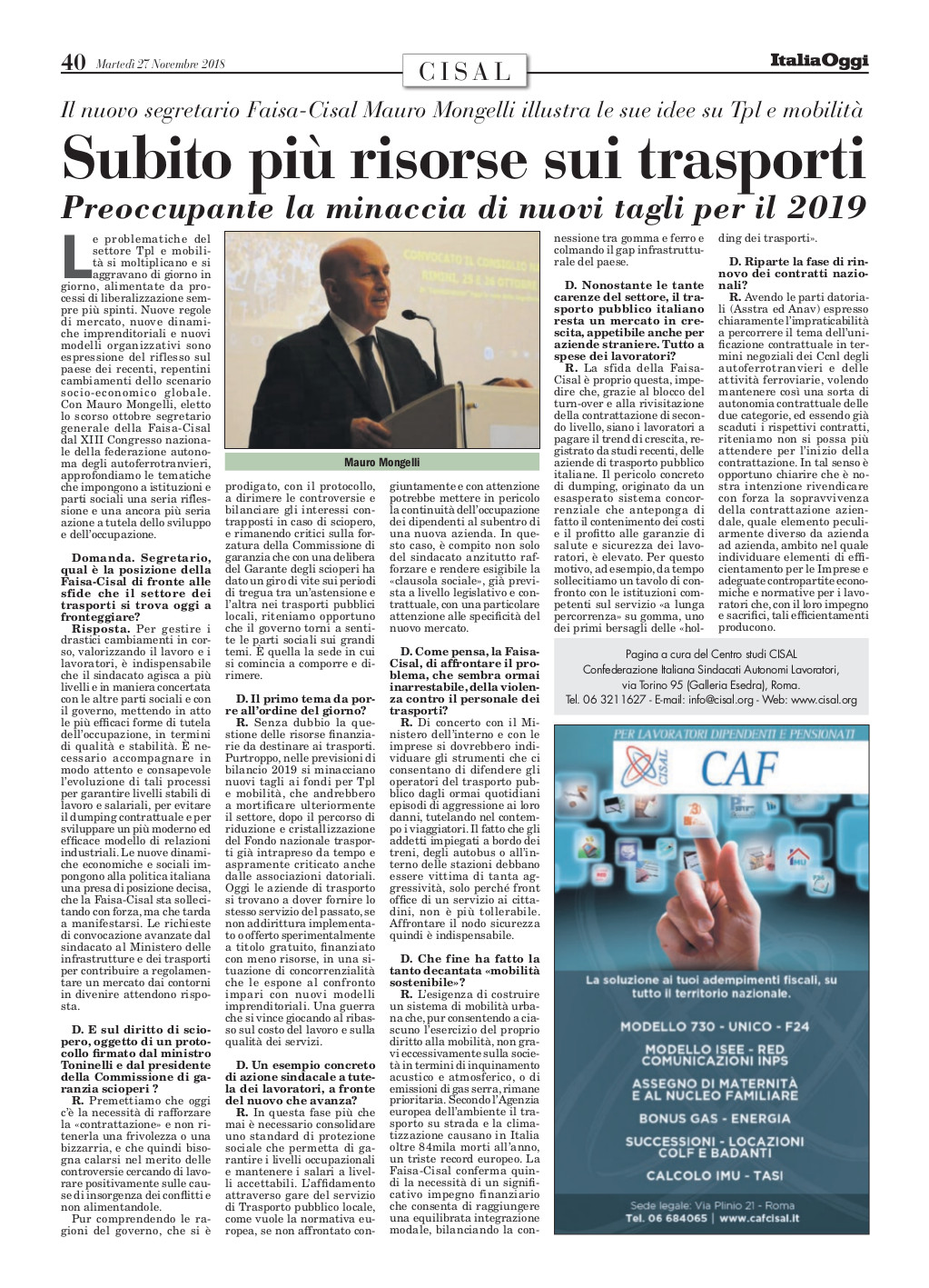 Editoriale in formato PDF:27/11/2018 Italia Oggi