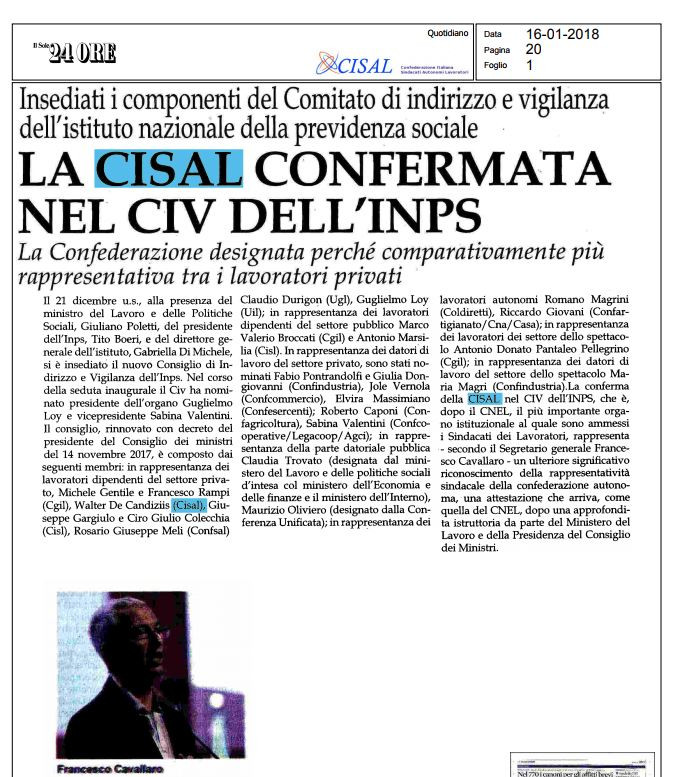 Editoriale in formato PDF:16/12/2018 Il Sole 24 Ore