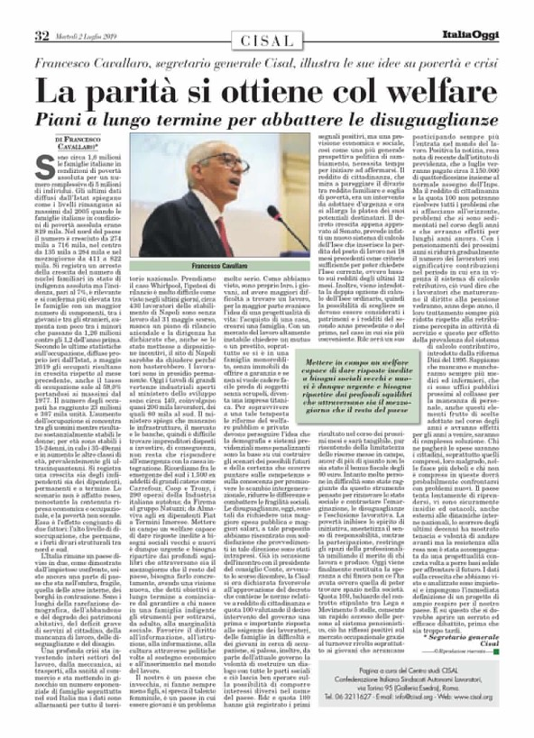 Editoriale in formato PDF:23/07/2019 Italia Oggi