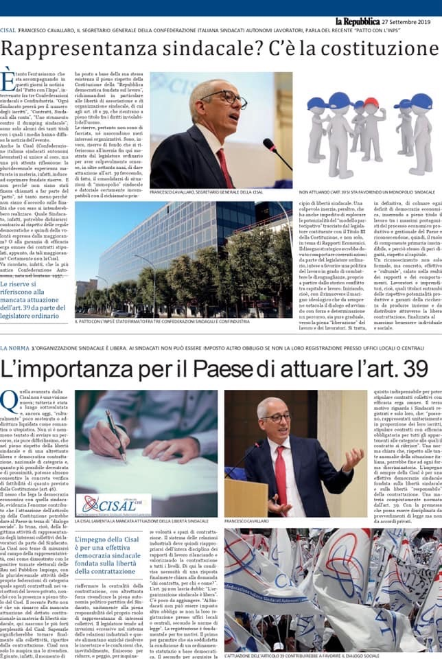 Editoriale in formato PDF:24/09/2019 La Repubblica
