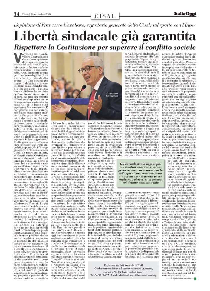 Editoriale in formato PDF:26/09/2019 Italia Oggi